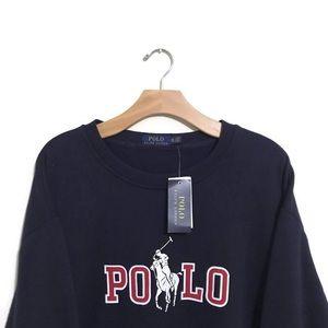 NWT Polo Ralph Lauren Spellout Horse Sweater XXL